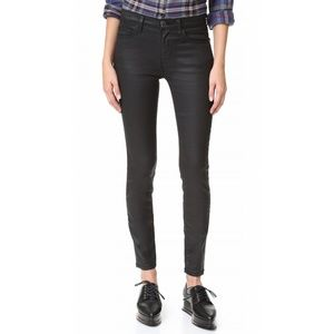 Current Elliott The High Waist Ankle Skinny Coated